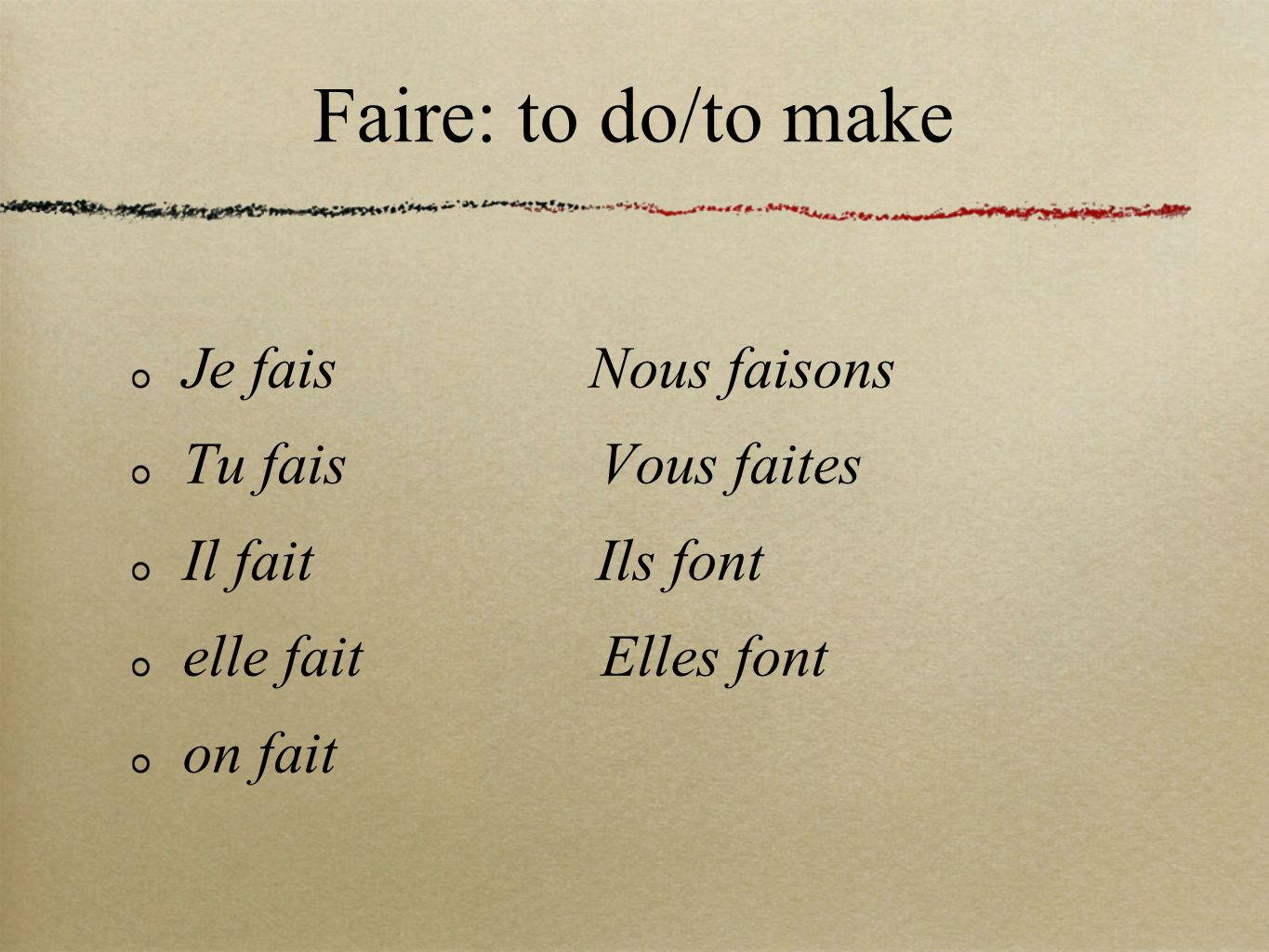 Now, lets review our newer verbs