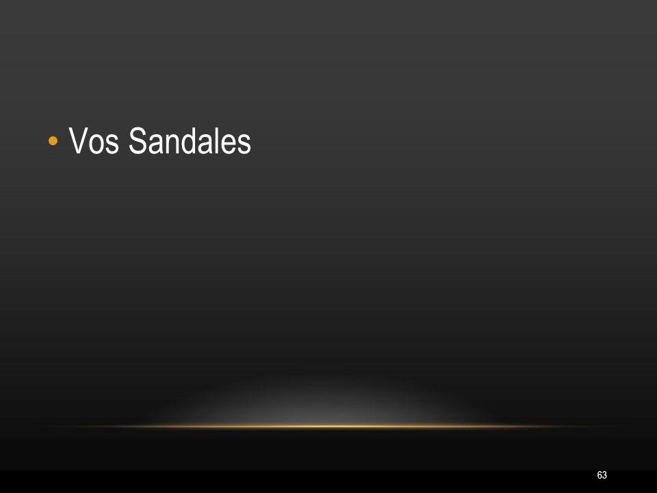 63 Vos Sandales