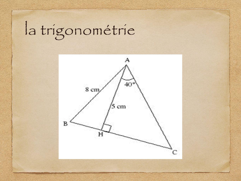 la trigonométrie