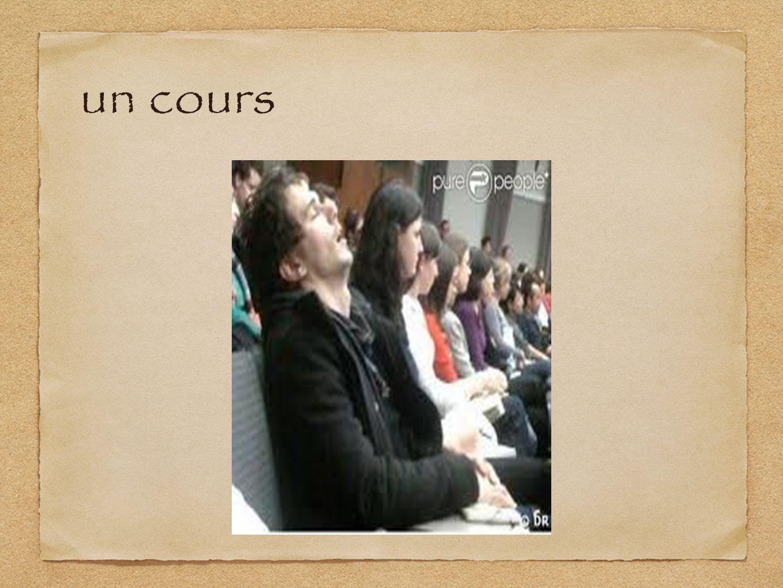 un cours