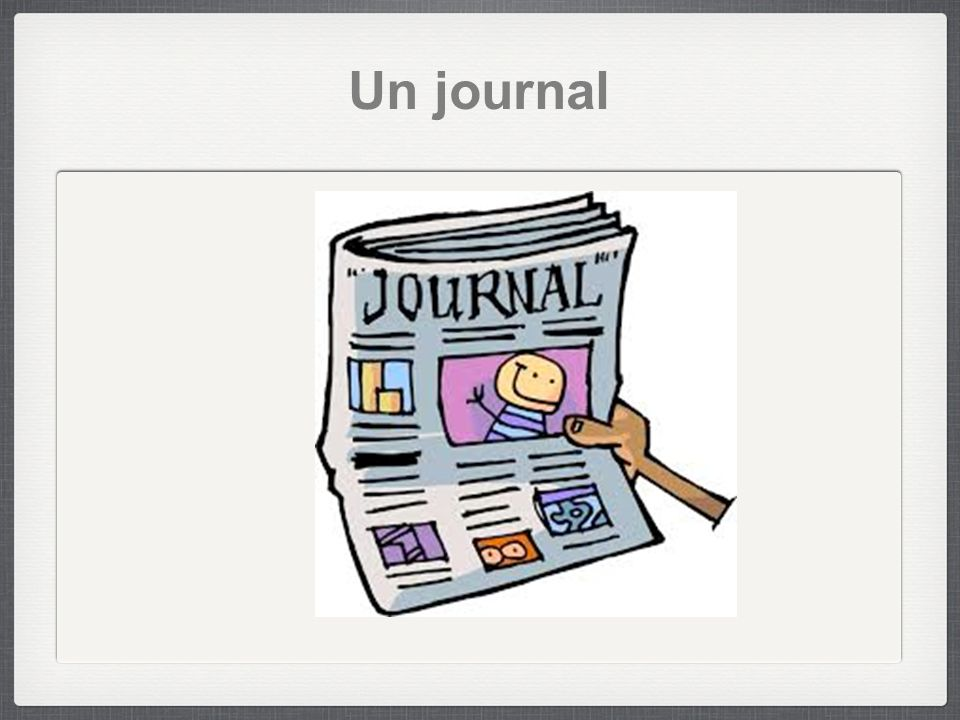 Un journal