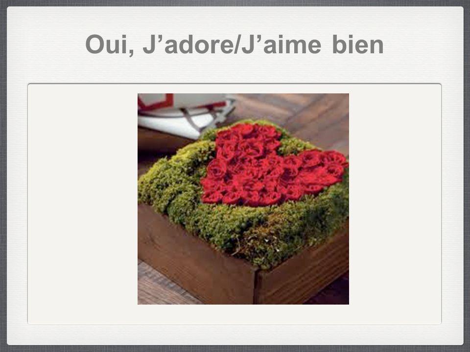 Oui, Jadore/Jaime bien