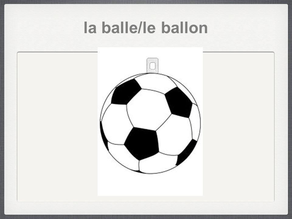 la balle/le ballon