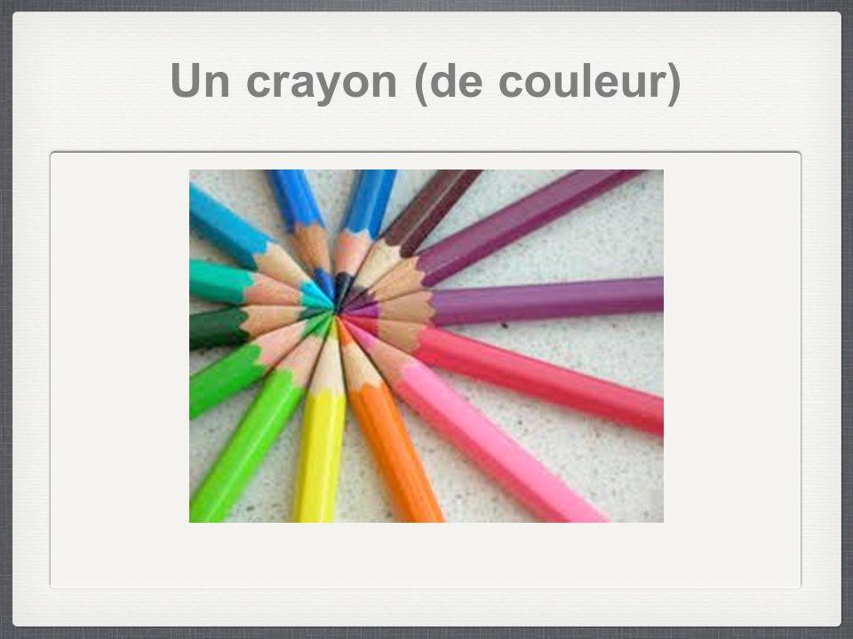 Un crayon (de couleur)