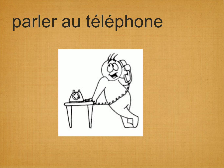 parler au téléphone