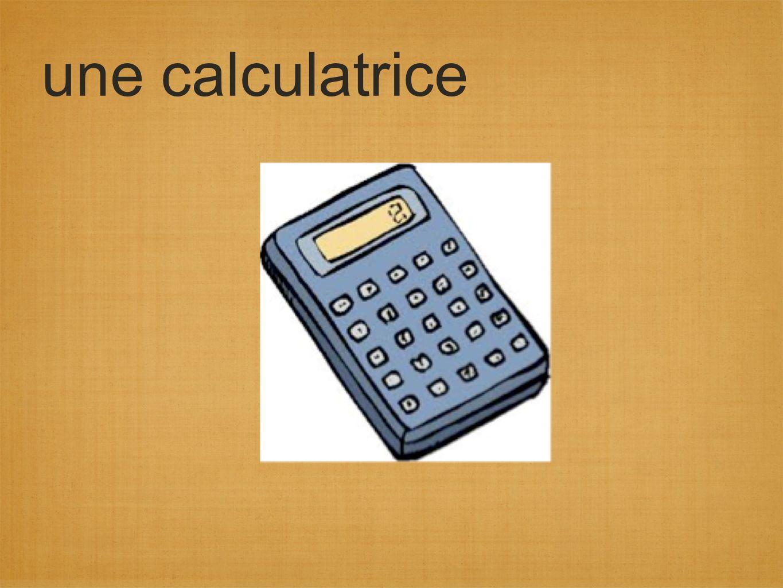 une calculatrice