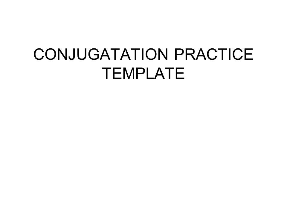 CONJUGATATION PRACTICE TEMPLATE