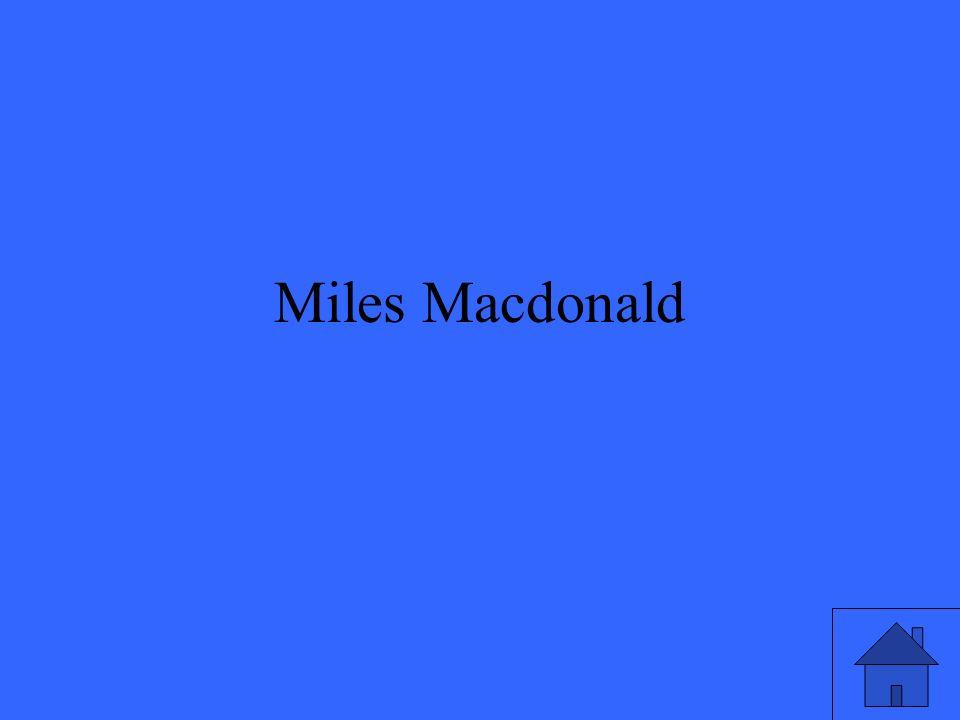 Miles Macdonald