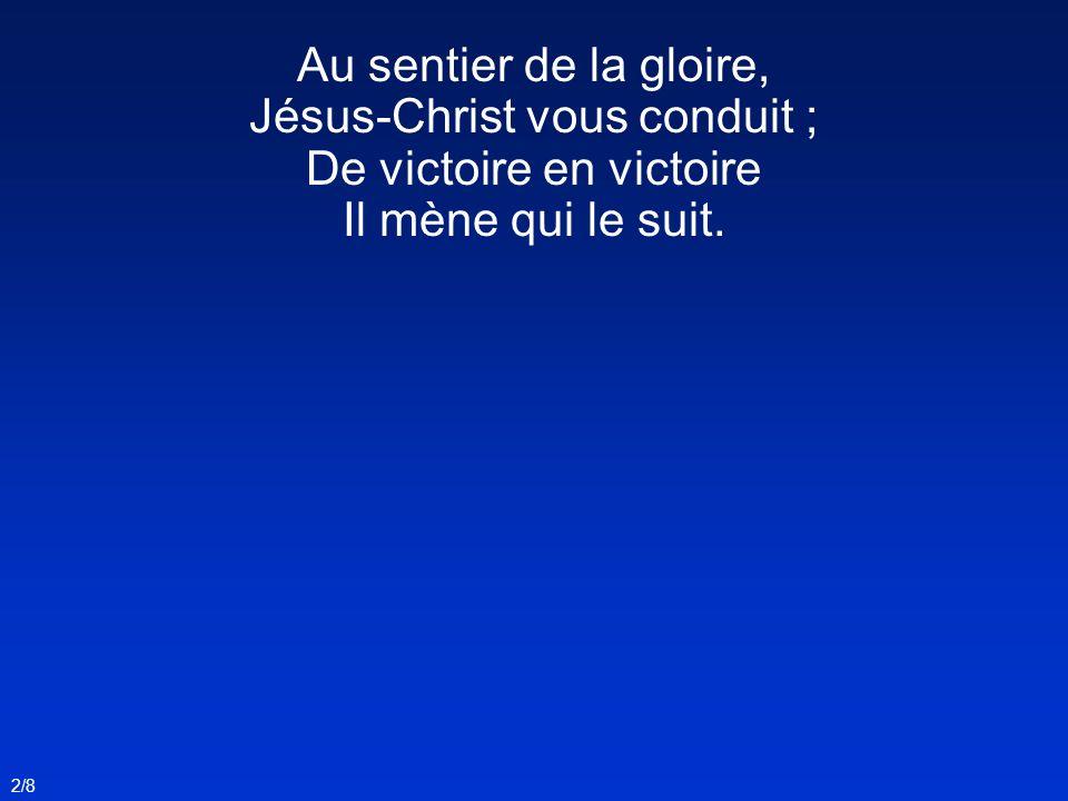 La trompette résonne, Debout, vaillants soldats .L immortelle couronne Est le prix des combats.