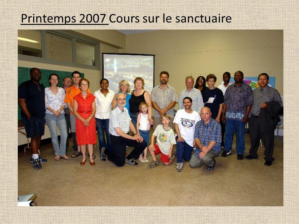 Printemps 2007 Cours sur le sanctuaire