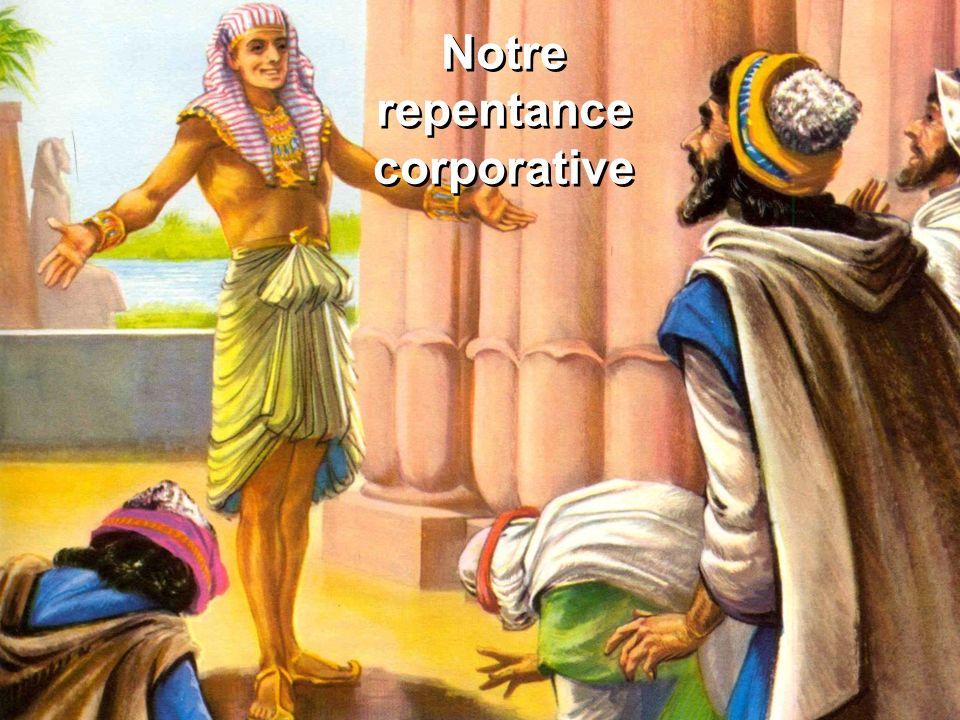 Notre repentance corporative