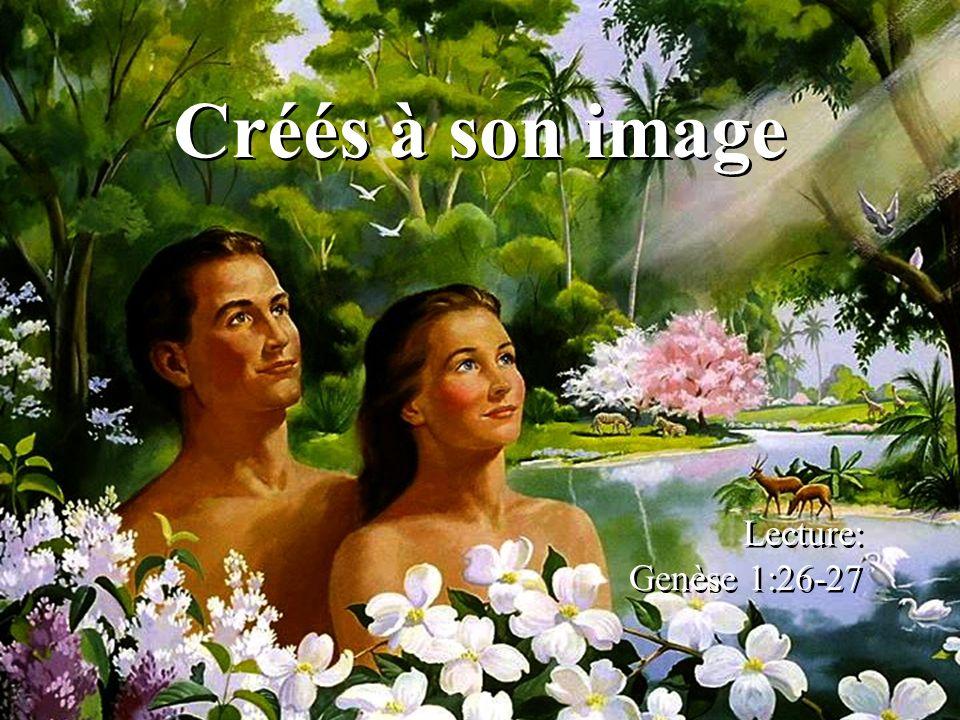 Créés à son image Lecture: Genèse 1:26-27 Lecture: Genèse 1:26-27