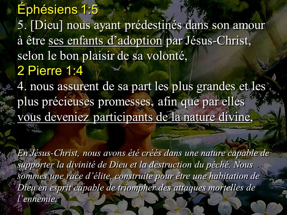 Éphésiens 1:5 5.