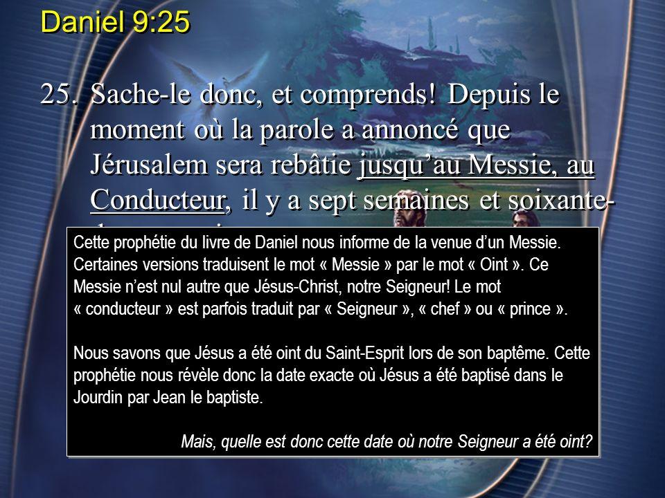 Daniel 8:14 14.Et il me dit: Deux mille trois cents soirs et matins; puis le sanctuaire sera purifié.