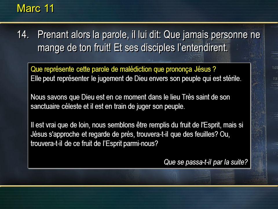 Marc 11 15.Ils arrivèrent à Jérusalem, et Jésus entra dans le temple.