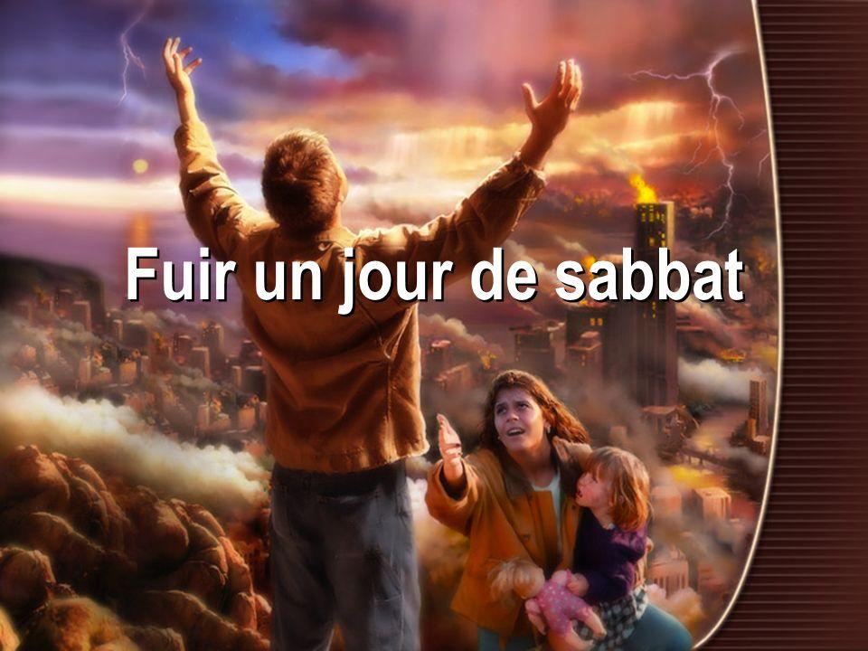 Matthieu 24:14-22 20.Priez pour que votre fuite narrive pas en hiver, ni un jour de sabbat.