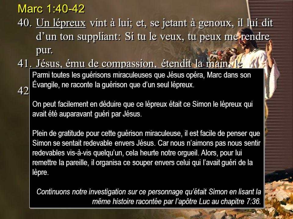 Luc 7:40-47 44.Puis, se tournant vers la femme, il dit à Simon: Vois-tu cette femme.