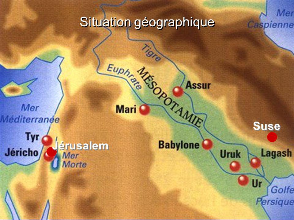 Situation géographique Suse Jérusalem