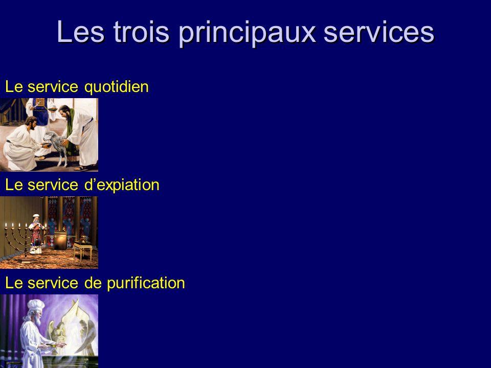 Les trois principaux services Le service quotidien Le service dexpiation Le service de purification