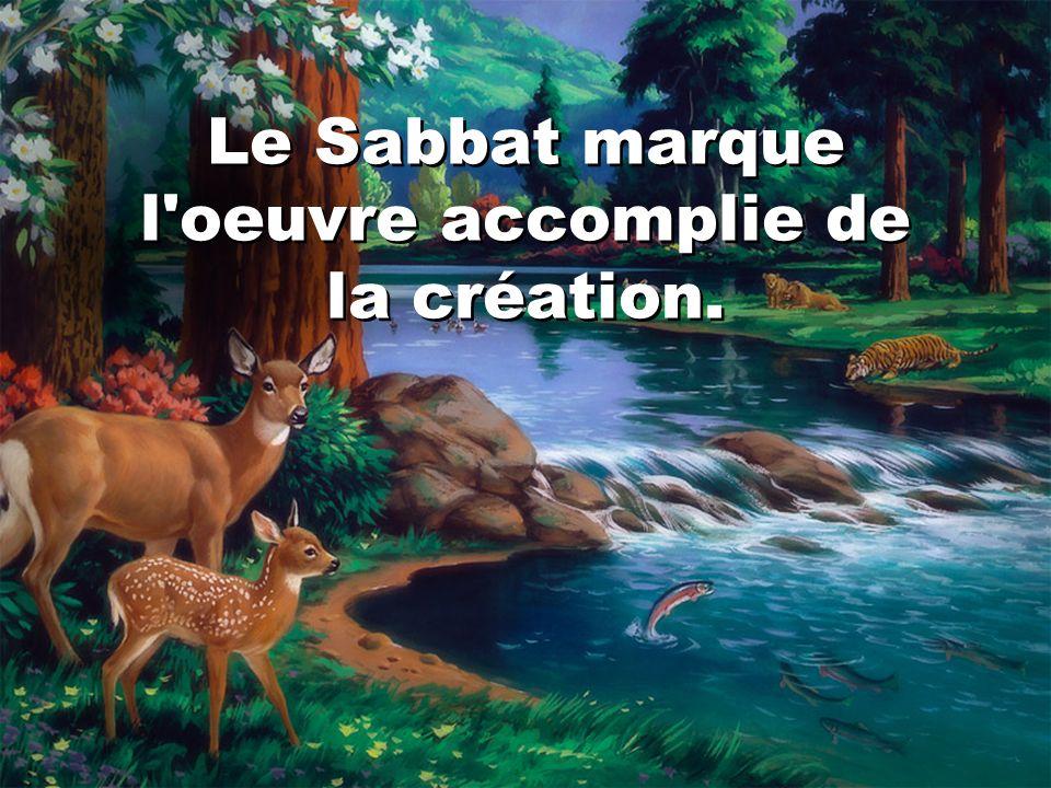 Genèse 2:3 Dieu bénit le septième jour, et il le sanctifia, parce qu en ce jour il se reposa de toute son oeuvre qu il avait créée en la faisant.