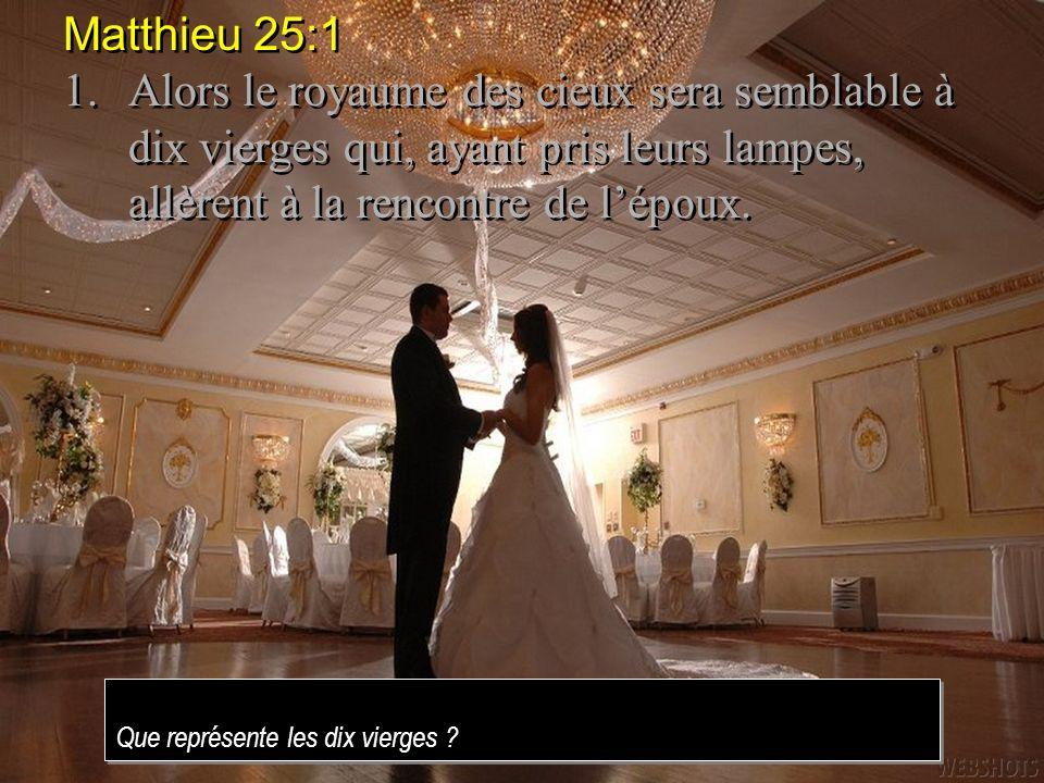 Matthieu 25:10 10.Pendant quelles allaient en acheter, lépoux arriva; celles qui étaient prêtes entrèrent avec lui dans la salle des noces, et la porte fut fermée.