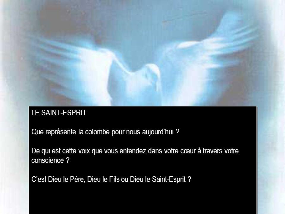 LE SAINT-ESPRIT Que représente la colombe pour nous aujourdhui .