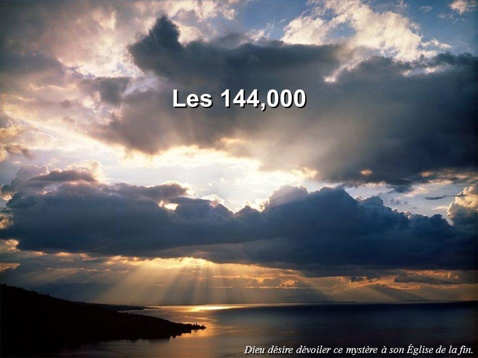 Les 144 mille dApocalypse 7:4-8 1)Ruben (2) 2)Siméon 3)Lévi 4)Juda (1) 5)Dan 6)Nephthali (5) 7)Gad (3) 8)Aser (4) 9)Issacar 10)Zabulon 11)Joseph 12)BenjaminManassé (6) Éphraïm