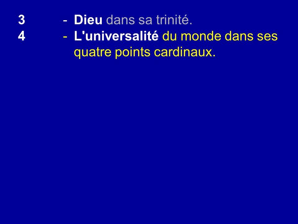 4-L'universalité du monde dans ses quatre points cardinaux.