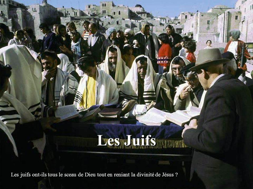 Les Juifs Les juifs ont-ils tous le sceau de Dieu tout en reniant la divinité de Jésus ?