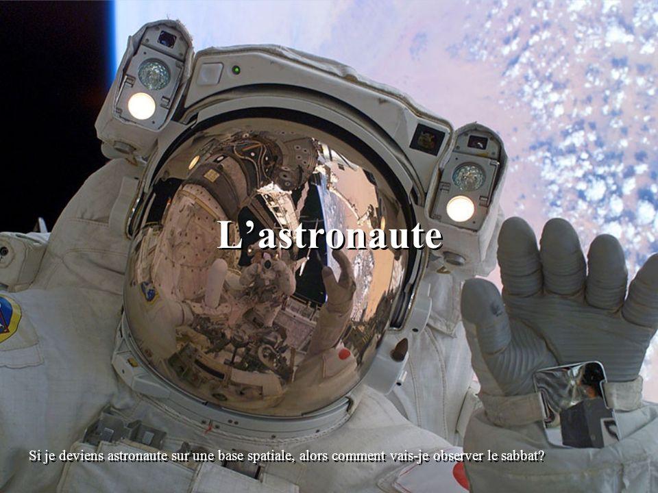 Lastronaute Si je deviens astronaute sur une base spatiale, alors comment vais-je observer le sabbat?