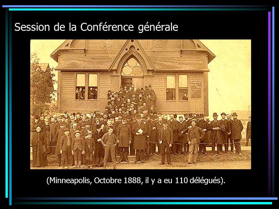 Session de la Conférence générale (Minneapolis, Octobre 1888, il y a eu 110 délégués).