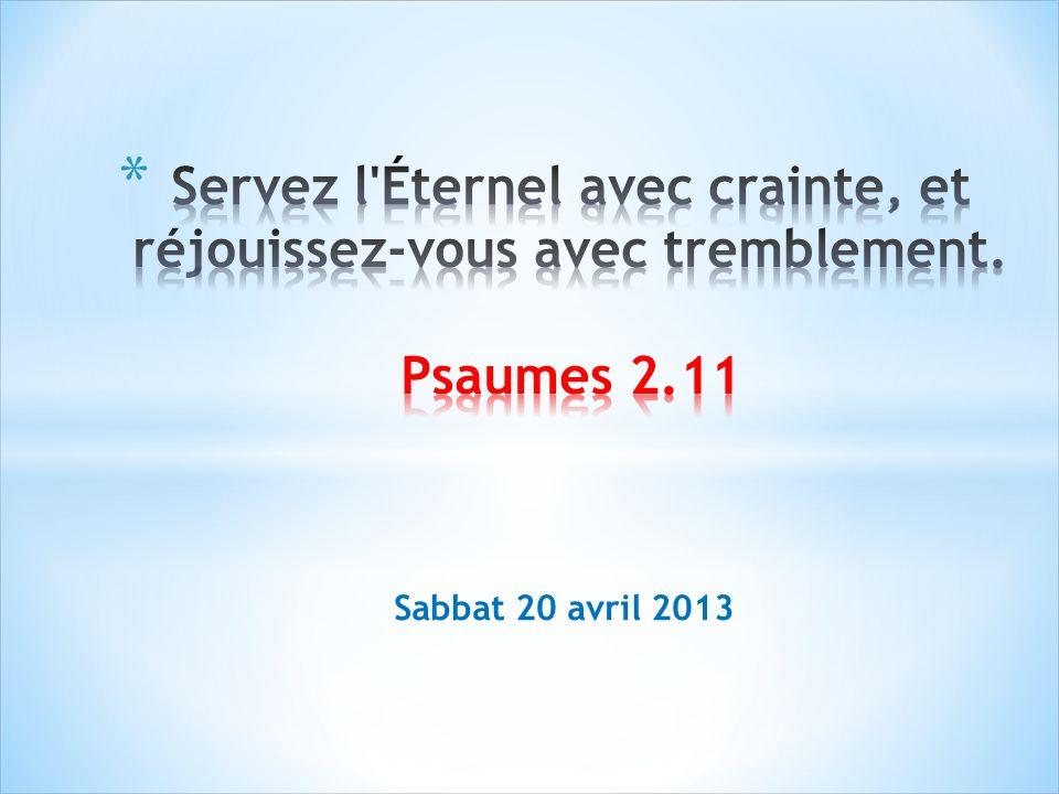 Sabbat 20 avril 2013