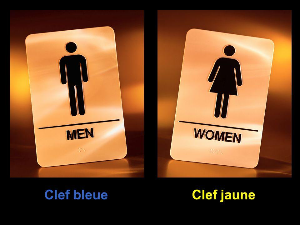 Clef bleue Clef jaune
