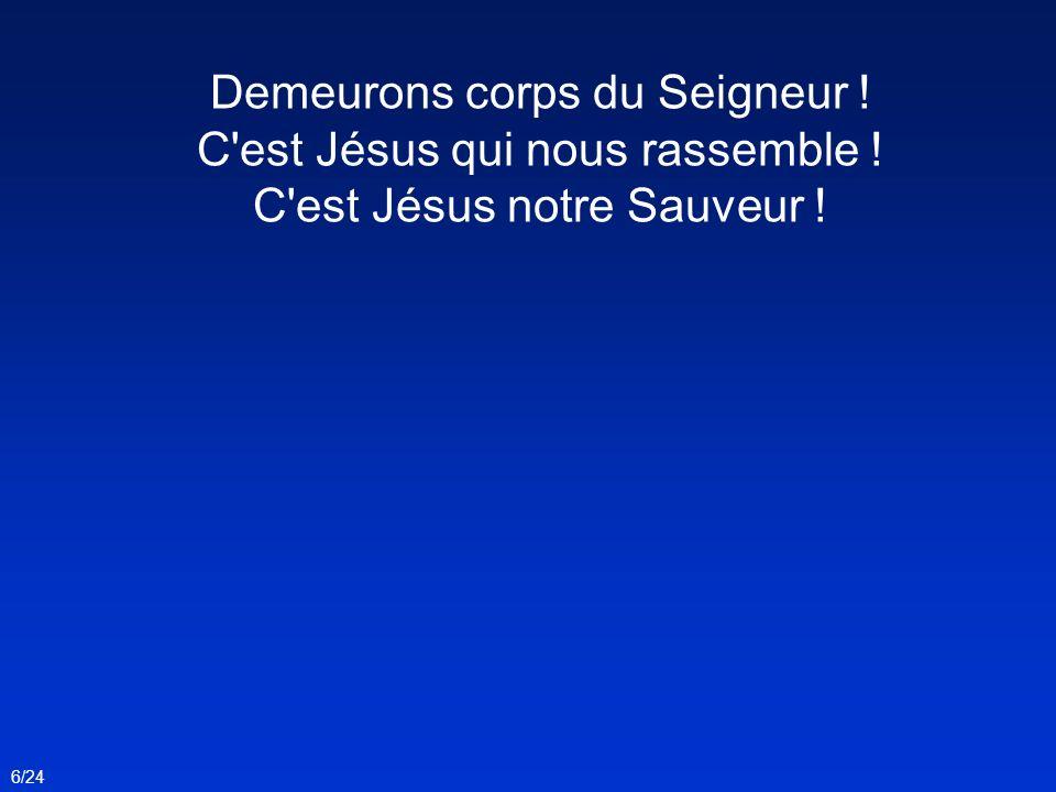 Demeurons corps du Seigneur ! C'est Jésus qui nous rassemble ! C'est Jésus notre Sauveur ! 6/24