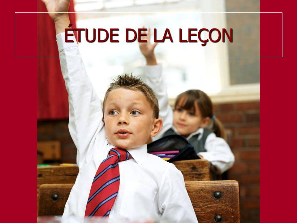 ÉTUDE DE LA LEÇON