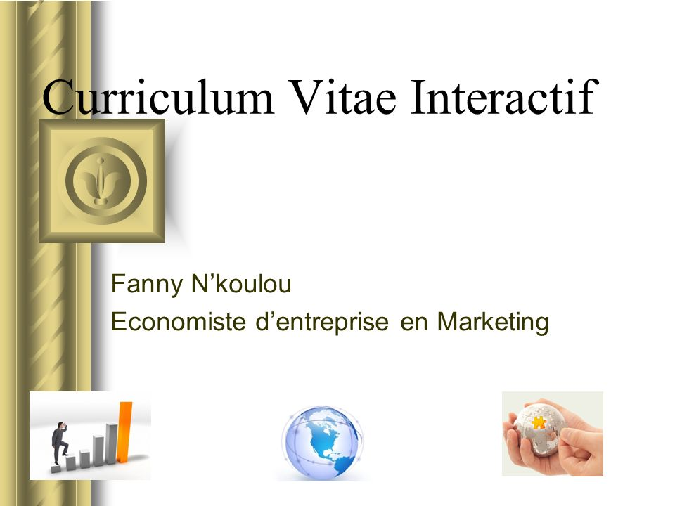 Curriculum Vitae Interactif Fanny Nkoulou Economiste dentreprise en Marketing