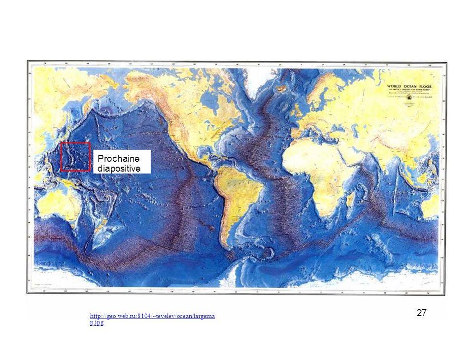 www.platetectonics.com/ oceanfloors/japan.asp Certaines fosses sont très très profondes La fosse près des îles Mariannes descend à plus de 11 km de profondeur Plaque de lEurasie Plaque des Philippines Japon Plaque du Pacifique 28