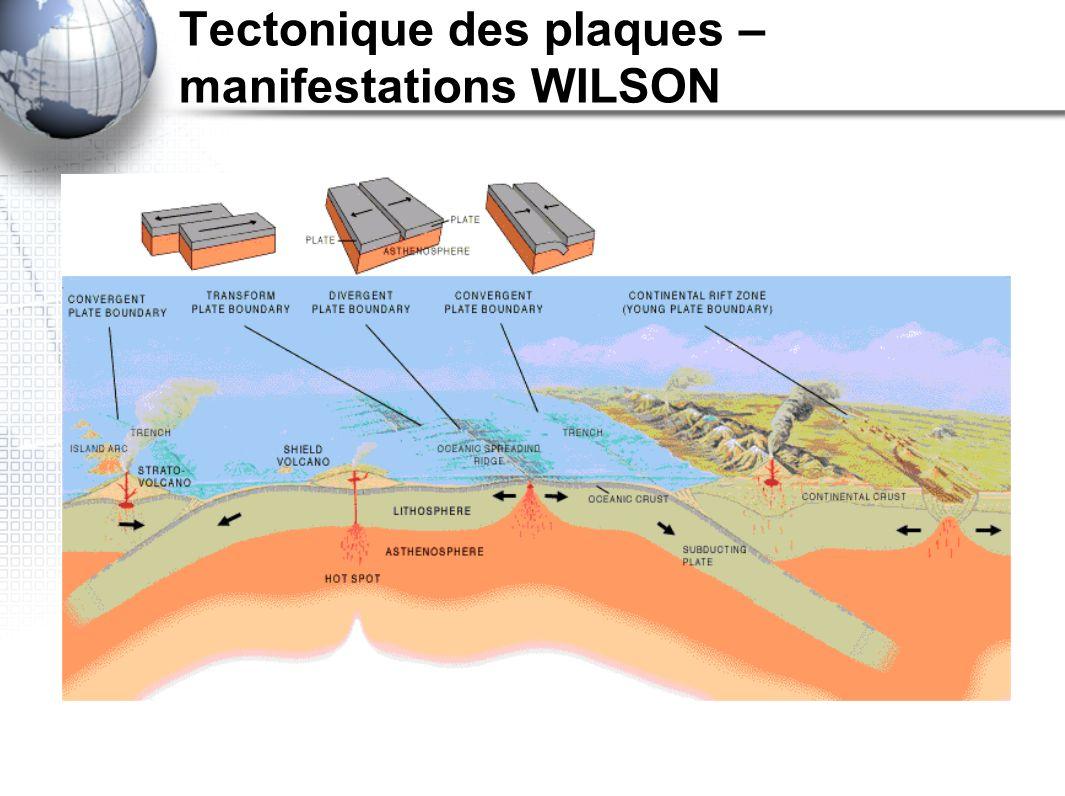 Tectonique des plaques – manifestations WILSON