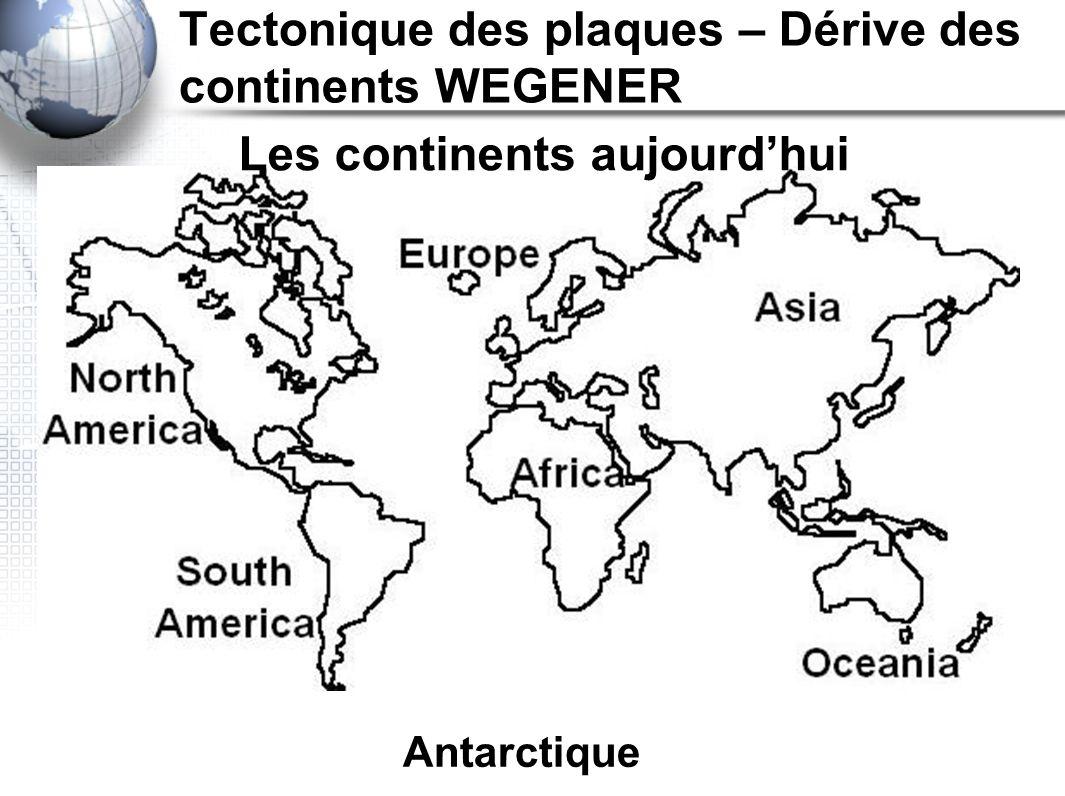 Tectonique des plaques – Dérive des continents WEGENER Preuves!
