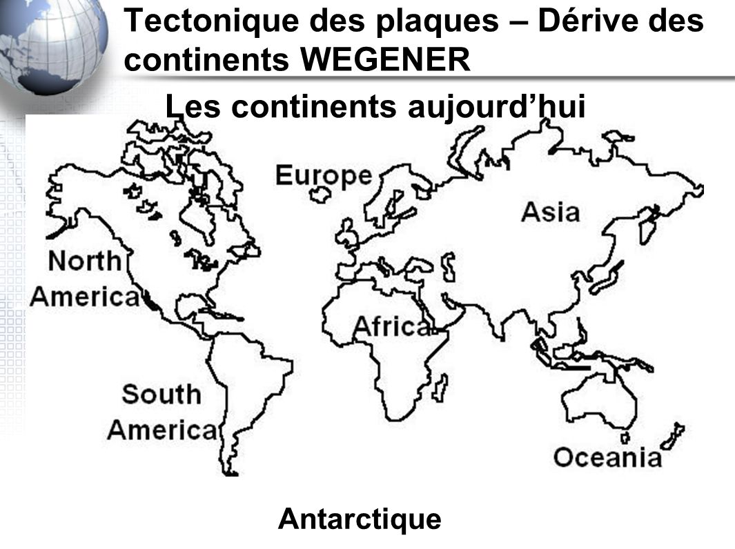 Antarctique Les continents aujourdhui