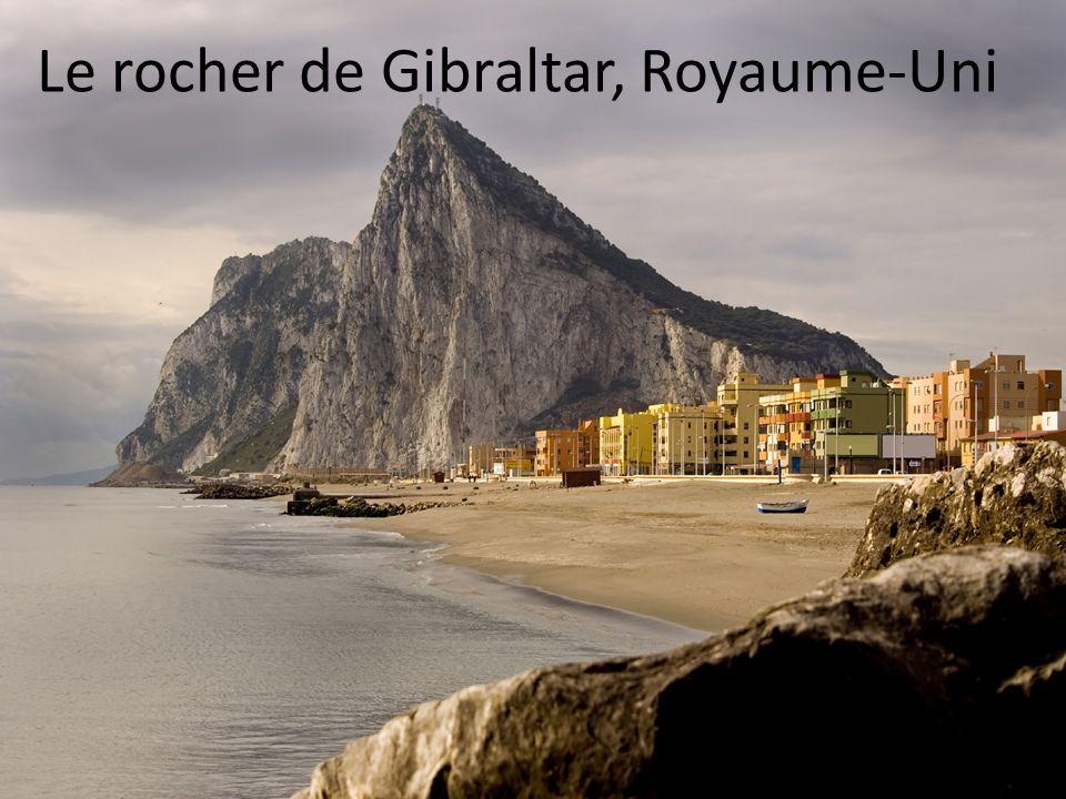Le rocher de Gibraltar, Royaume-Uni