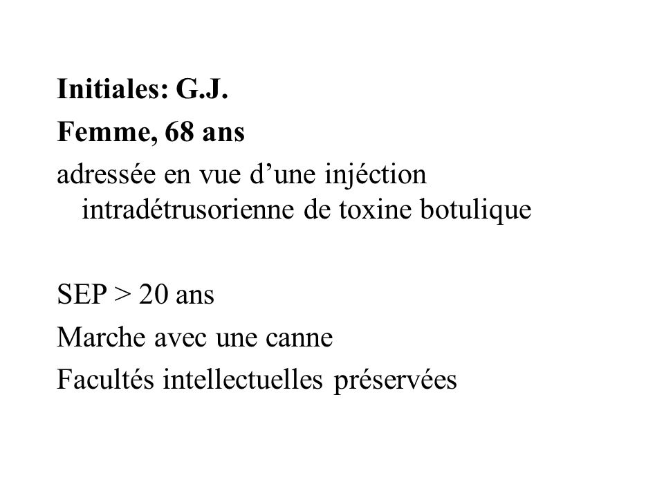 Initiales: G.J.