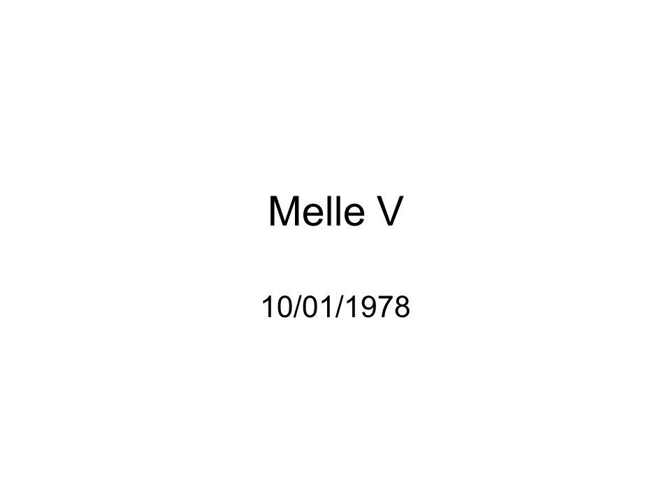 Melle V 10/01/1978