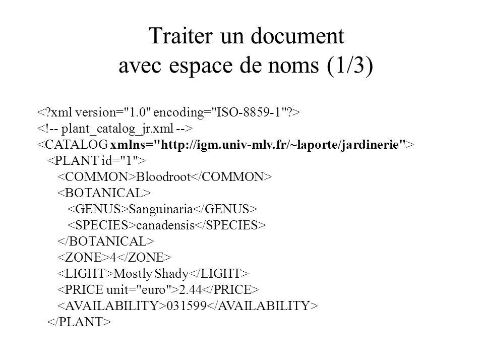 Traiter un document avec espace de noms (1/3) Bloodroot Sanguinaria canadensis 4 Mostly Shady 2.44 031599
