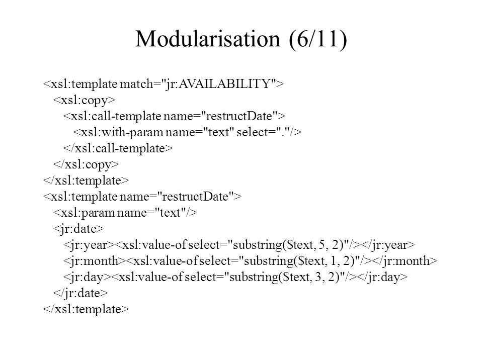 Modularisation (6/11)