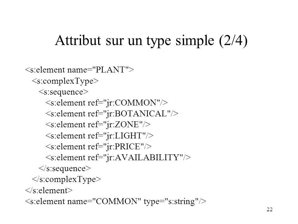 22 Attribut sur un type simple (2/4)
