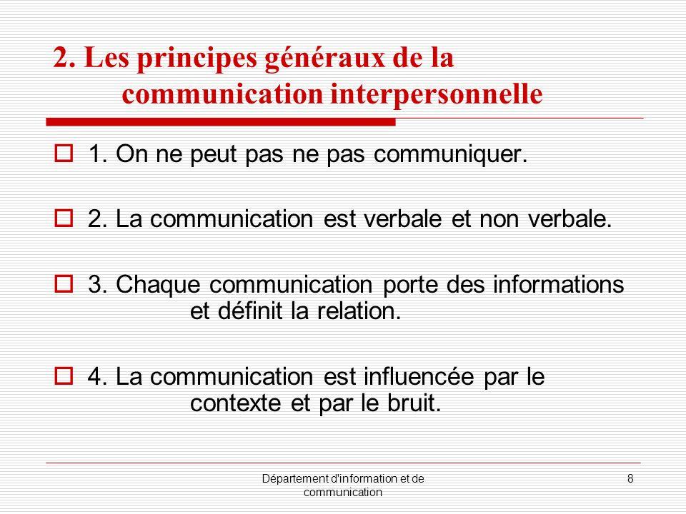 Département d information et de communication 8 2.
