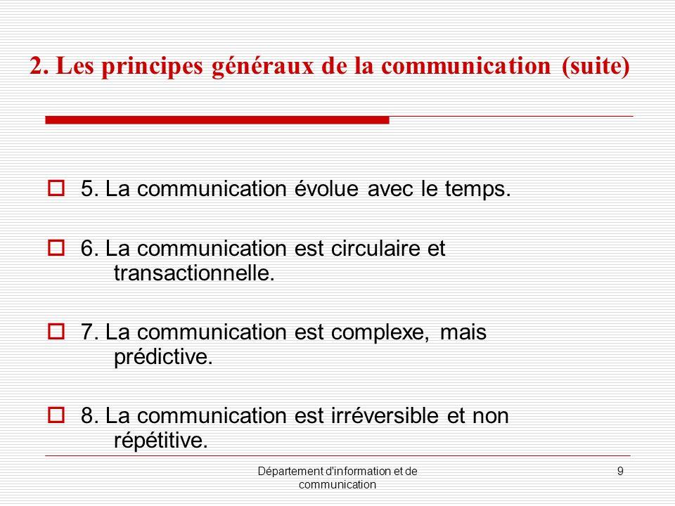 Département d information et de communication 9 5.