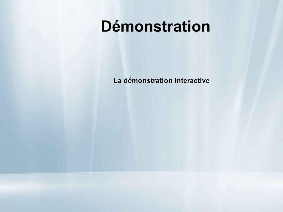 Démonstration La démonstration interactive