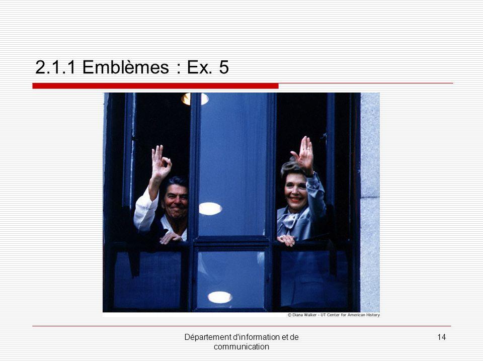Département d information et de communication 15 2.1.2 Mouvements de tête Il existe des différences culturelles même pour signifier un : OUI NON